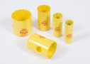 Starrett yellow FCH hole cutters for steel pipes